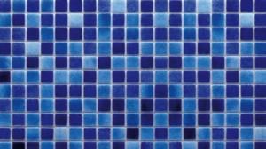 Cam Mozaik Havuz Kaplaması - MixDarkBlue